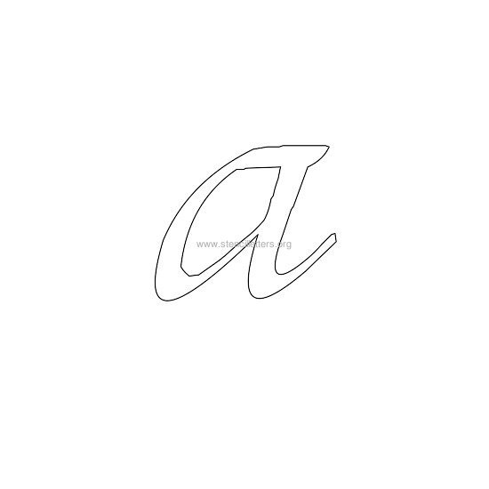 lowercase calligraphy wall stencil letter a