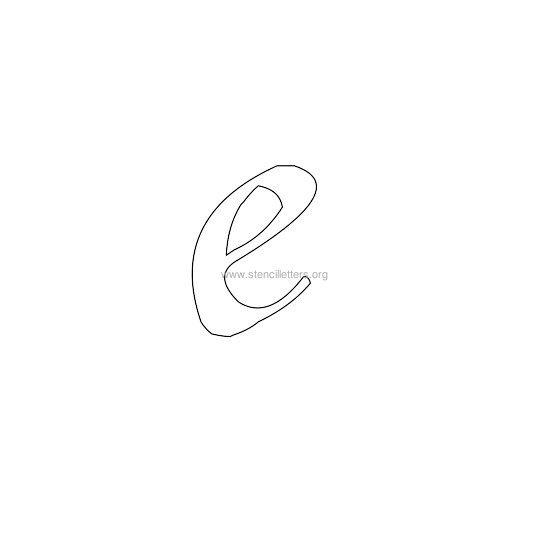 lowercase calligraphy wall stencil letter e