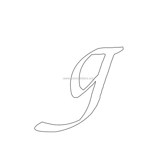 lowercase calligraphy wall stencil letter g
