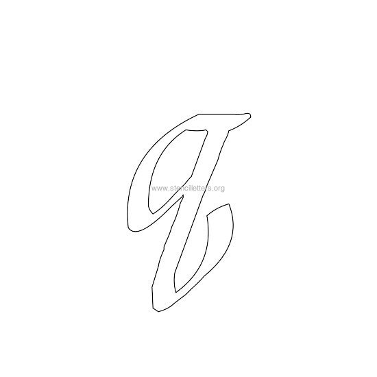 lowercase calligraphy wall stencil letter q