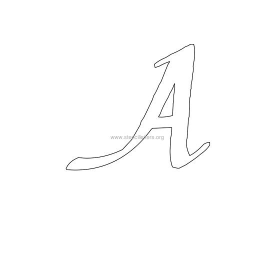 uppercase calligraphy wall stencil letter a