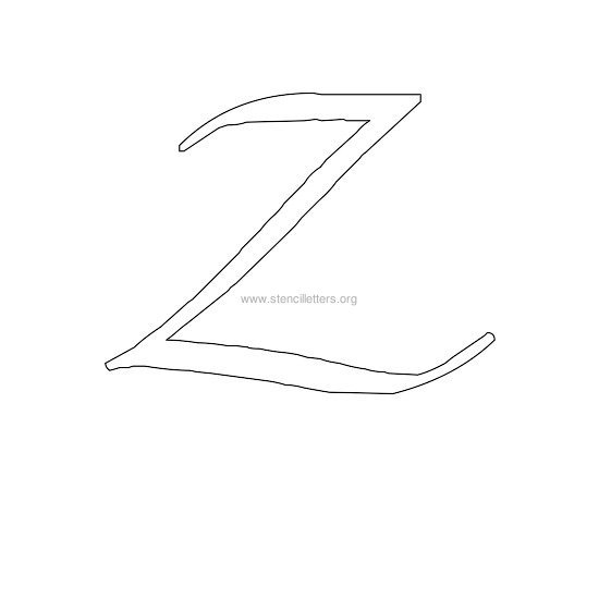 uppercase calligraphy wall stencil letter z
