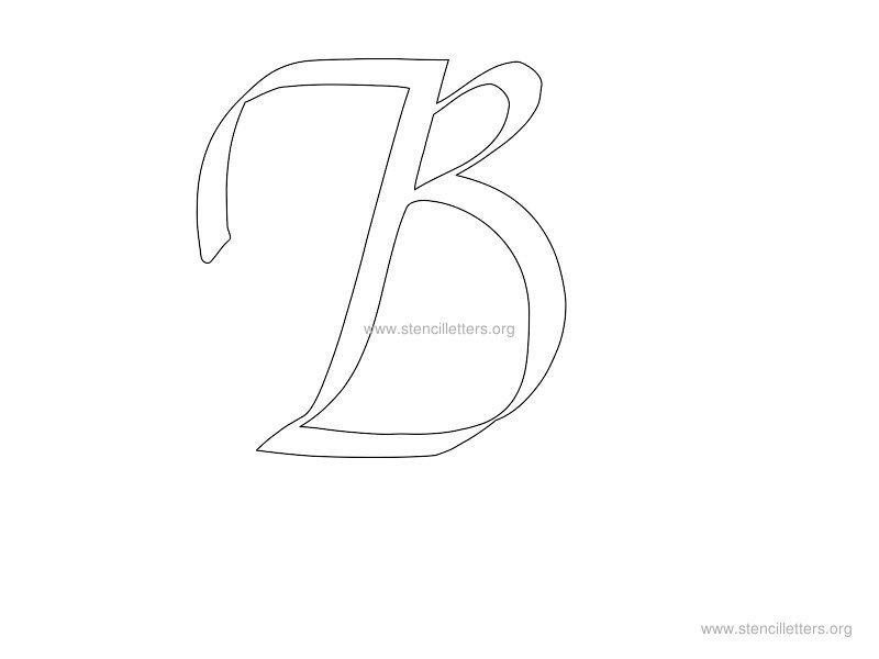 cursive wall letter stencils stencil letters org. Black Bedroom Furniture Sets. Home Design Ideas