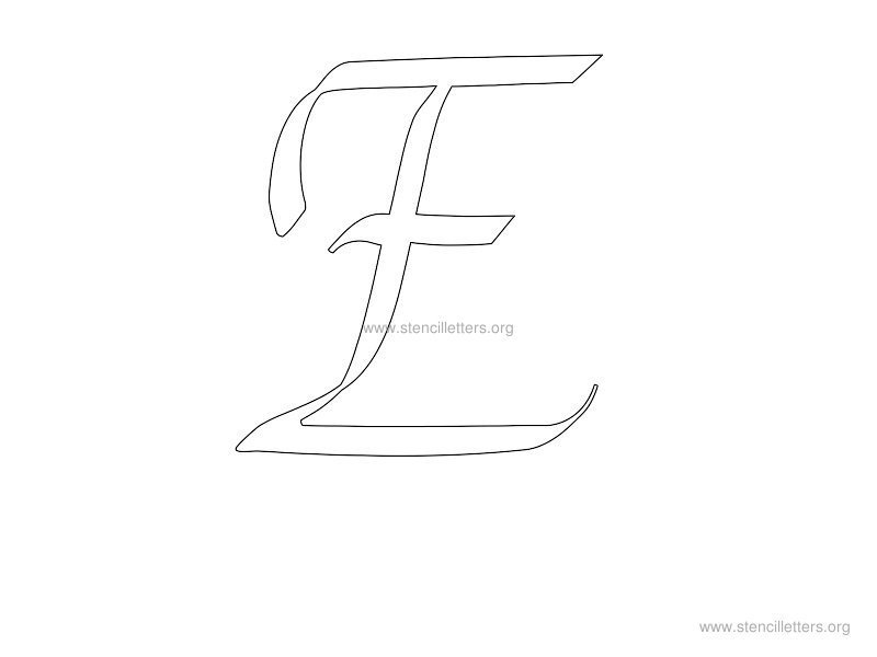 Worksheets Letter E Cursive Stencil Printable cursive wall letter stencils stencil letters org e