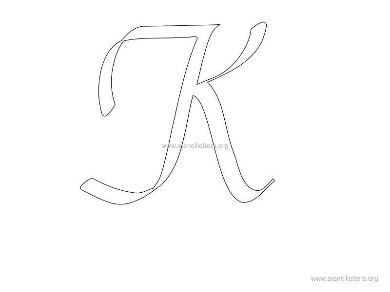 printable letter stencils k