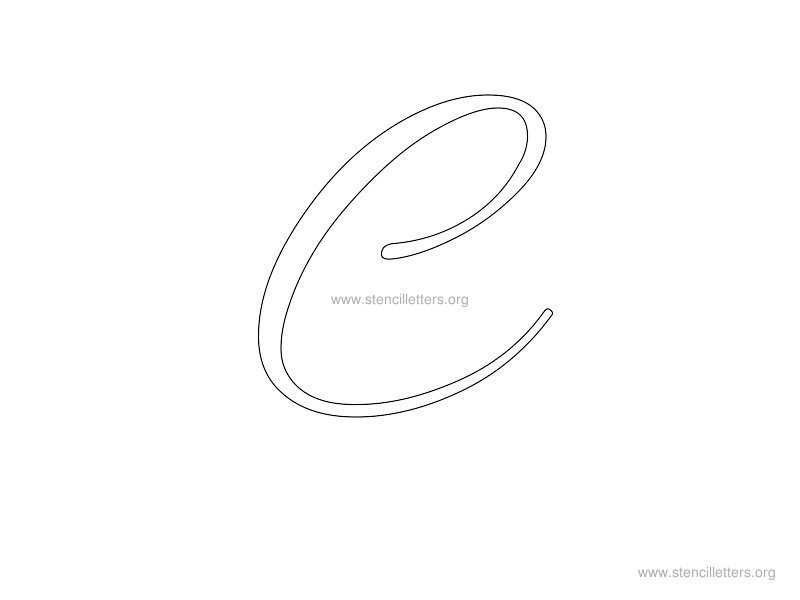Cursive wall letter stencils stencil letters org for Large letter j for wall