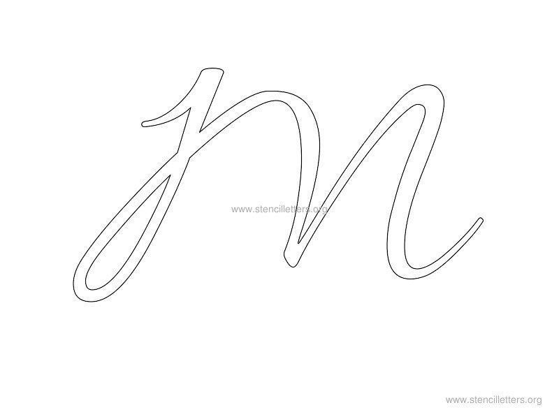 Cursive Wall Letter Stencils | Stencil Letters Org