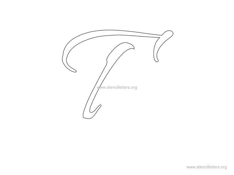 Cursive Wall Letters | cursive stencil t
