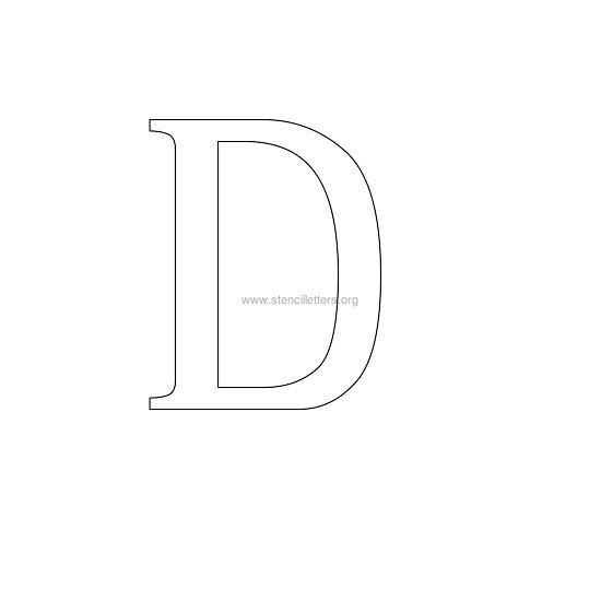 greek wall stencil letter d