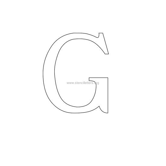 greek wall stencil letter g