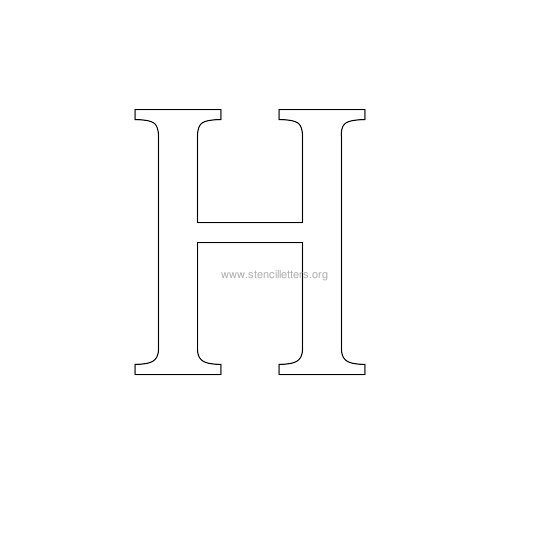 greek wall stencil letter h