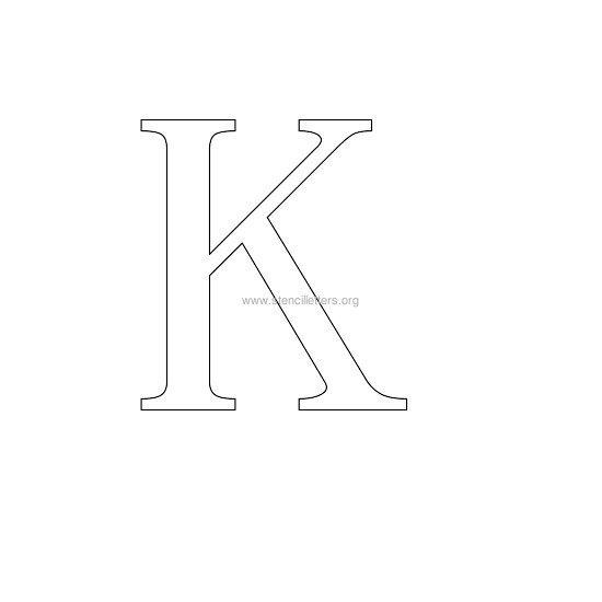 greek wall stencil letter k