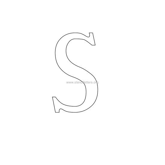greek wall stencil letter s