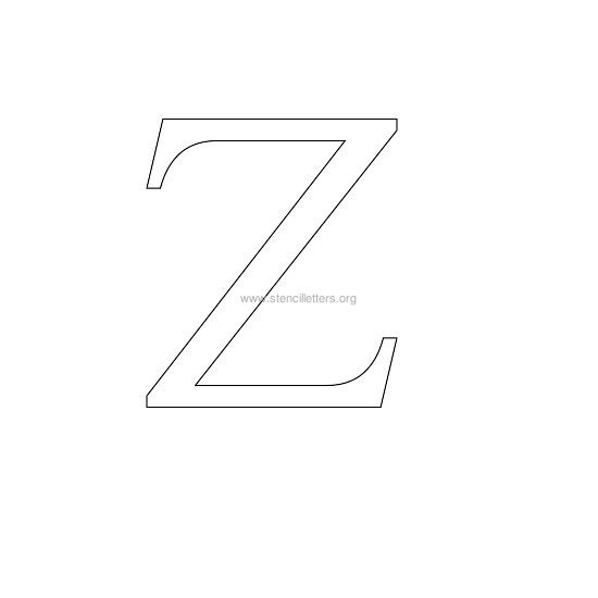 greek wall stencil letter z