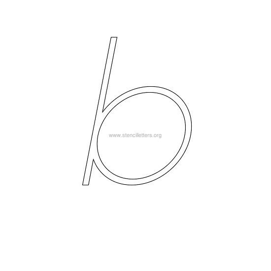 lowercase italic wall stencil letter b