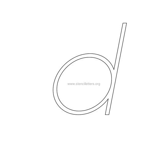 lowercase italic wall stencil letter d