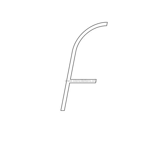 lowercase italic wall stencil letter f