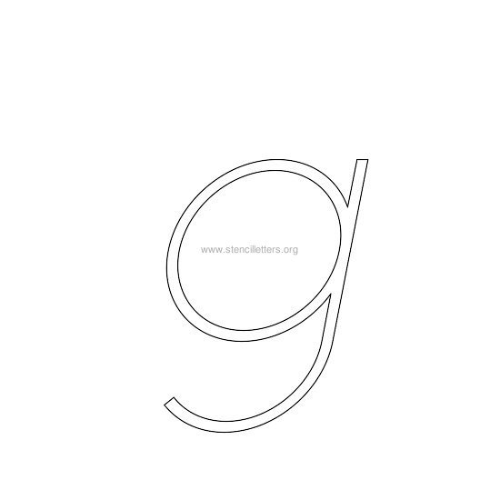 lowercase italic wall stencil letter g