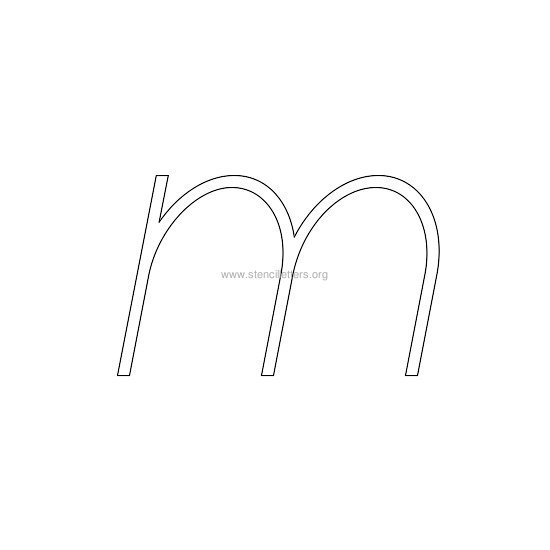 lowercase italic wall stencil letter m