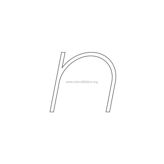 lowercase italic wall stencil letter n