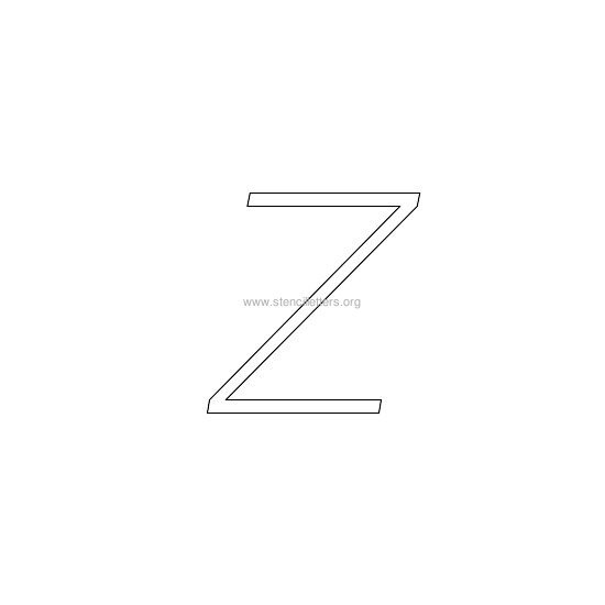 lowercase italic wall stencil letter z