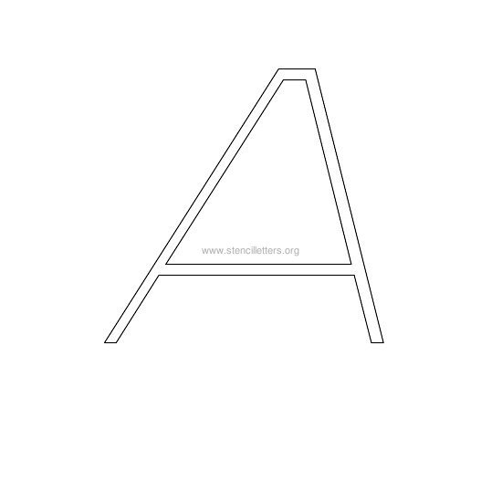 uppercase italic wall stencil letter a