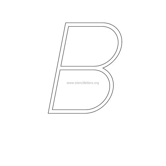 uppercase italic wall stencil letter b