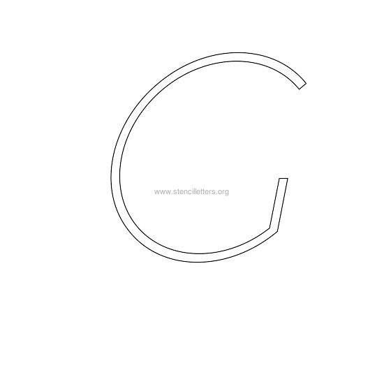 uppercase italic wall stencil letter g