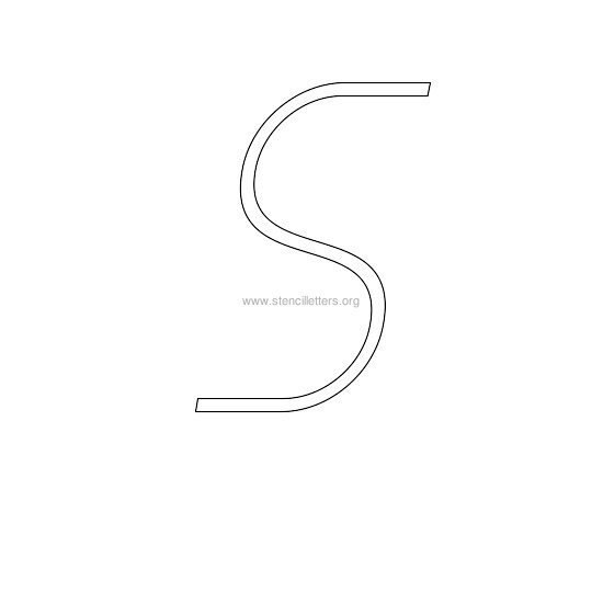 uppercase italic wall stencil letter s