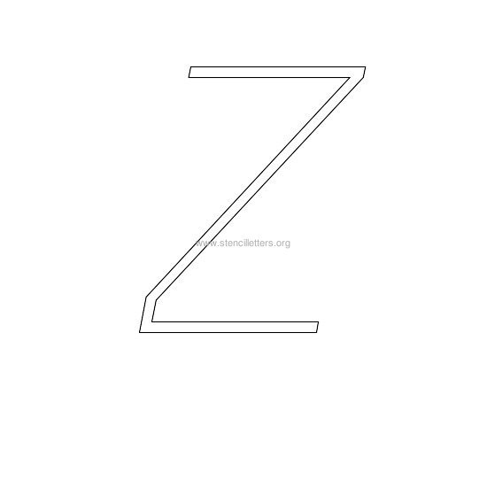 uppercase italic wall stencil letter z
