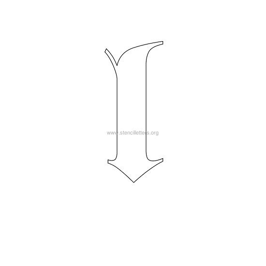 lowercase old-english wall stencil letter l