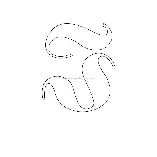 uppercase old-english wall stencil letter i