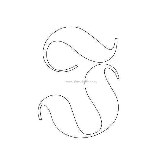 uppercase old-english wall stencil letter j