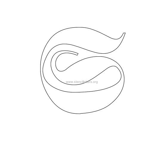 uppercase old-english wall stencil letter s