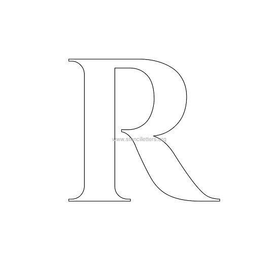 roman wall letter stencils | stencil letters org