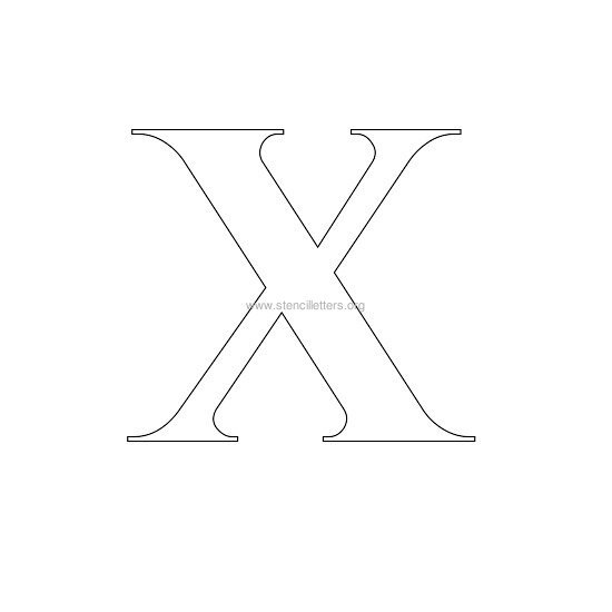 Canny image with regard to roman numeral stencil printable