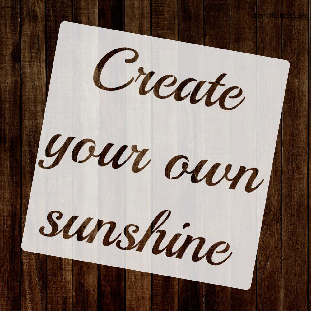 create-your-own-sunshine-quote-stencil