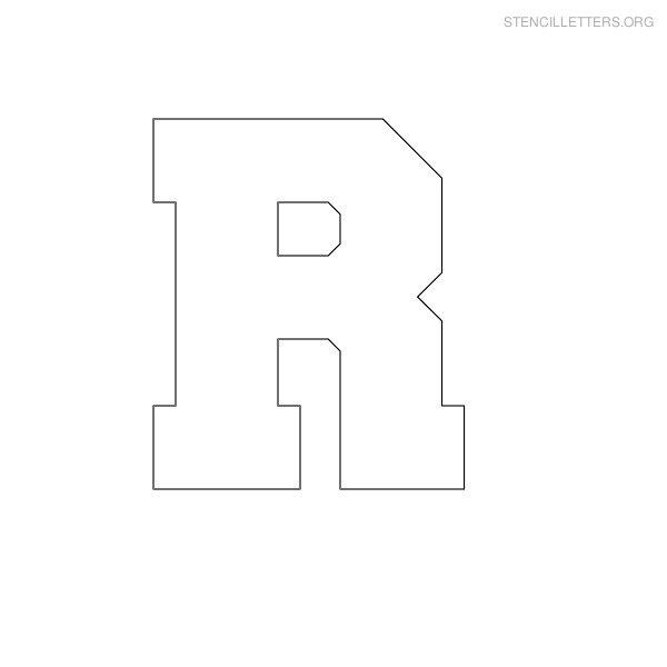 stencil letter block r