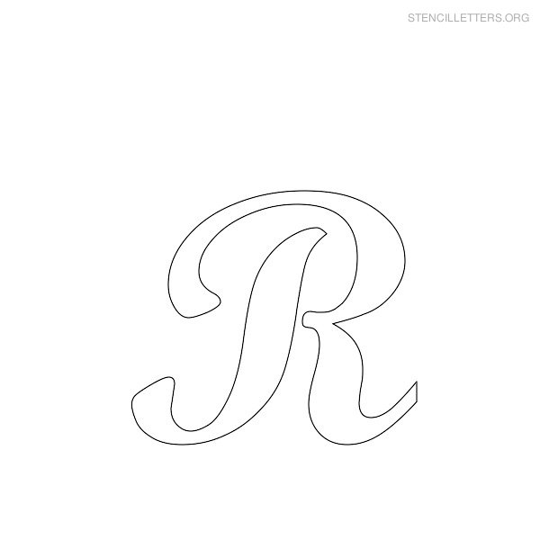 graphic about Cursive Letter Stencils Printable named Stencil Letters R Printable Totally free R Stencils Stencil