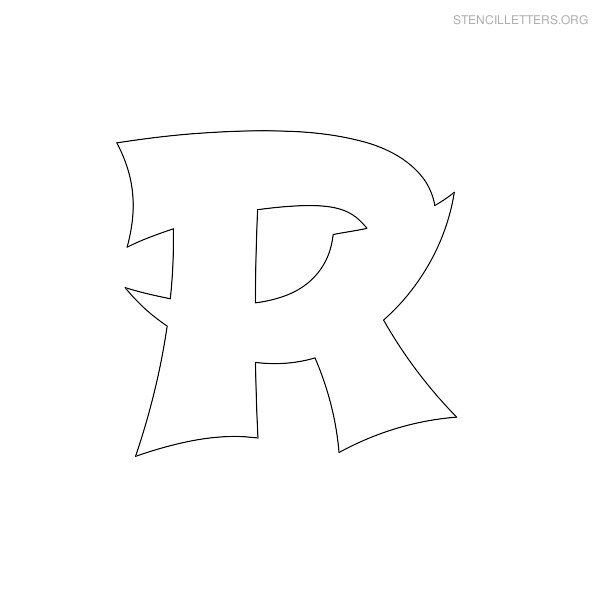 Stencil Letter Japanese R