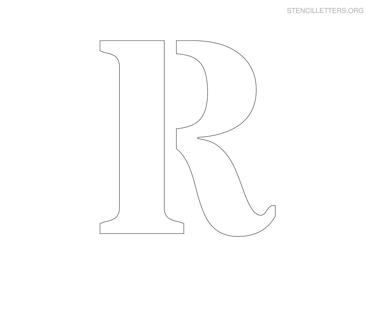 stencil letter large r