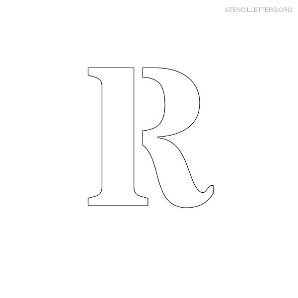 Stencil Letter Uppercase R