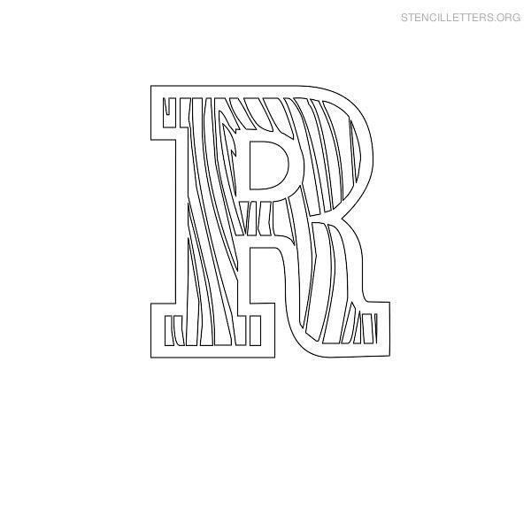 Stencil letters r printable free r stencils stencil letters org stencil letter wooden r spiritdancerdesigns Choice Image