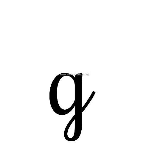Inch Letter G