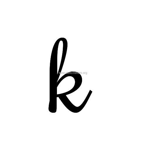 Lowercase Letter K Rochester Large Letter...