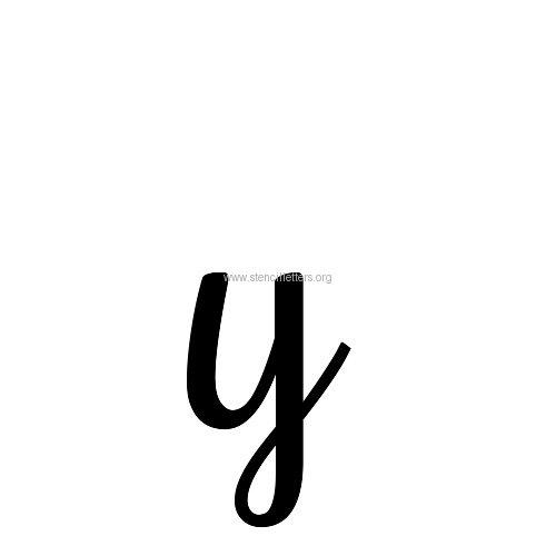 Rochester Artdeco Letters Lowercase Stencil Letter Y