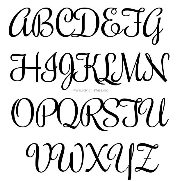 Rochester large letter stencils a z 12 inch to 36 inch for Free printable alphabet templates