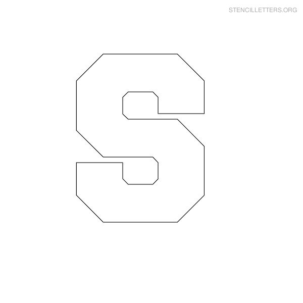 Stencil Block Letter S