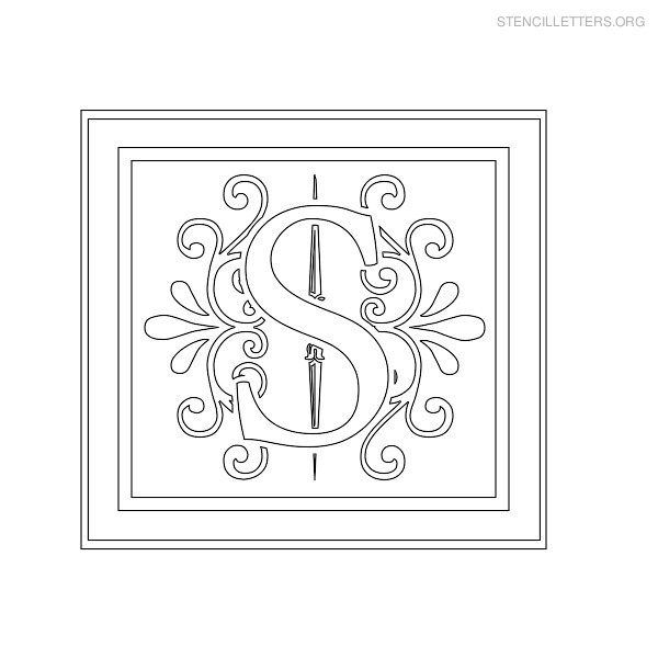 Stencil Letter Decorative S