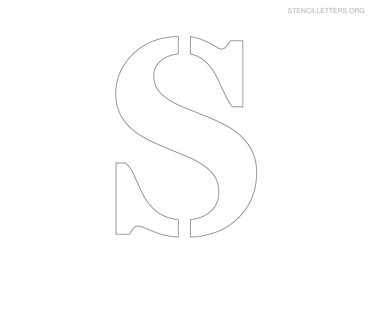 graphic relating to Printable Letter S identified as Stencil Letters S Printable Cost-free S Stencils Stencil
